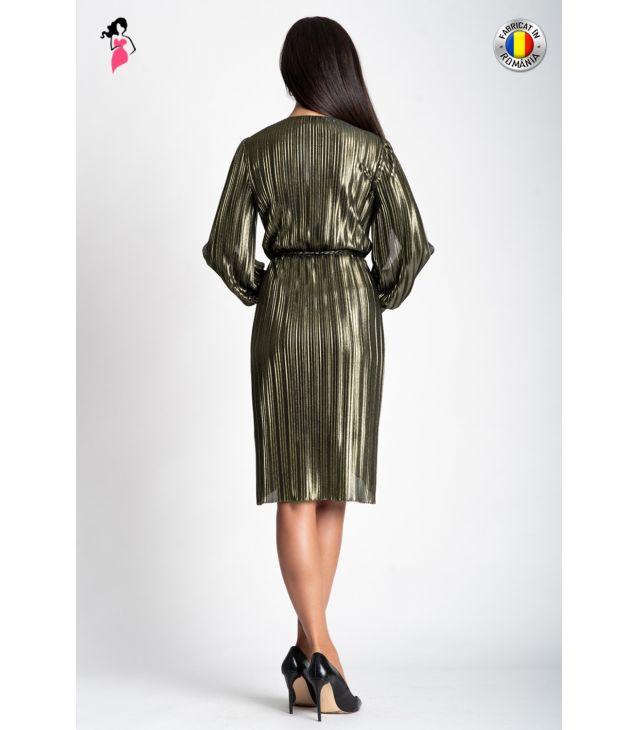 Rochie de ocazie din jerse plisat