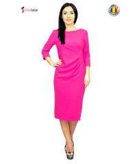 Rochie casual-office roz